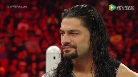 WWE美式摔跤娱乐 兄弟反目相向 疯子偷袭伦斯