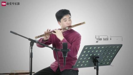 新爱琴从零开始学竹笛公益课程第六十一课  考级篇  《欢乐歌》讲解(二)
