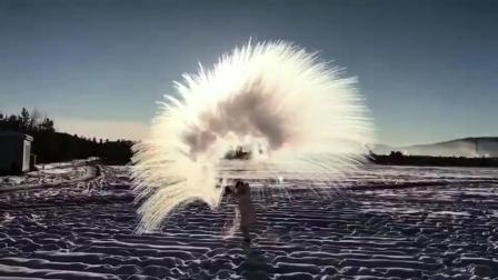 最北漠河特产美哭了的泼水成冰 你要来体验一下吗