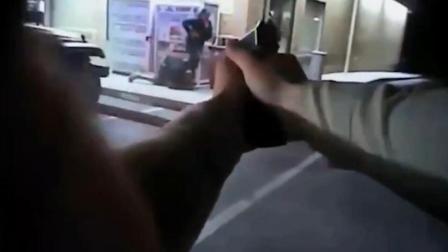 实拍: 美国一男子持枪挟持妻子警方警告无效四枪将其击毙