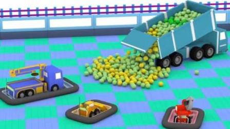 儿童工程车卡通 迷你挖掘机爱得起重机查理推土机比利修建游乐场乘坐碰碰车