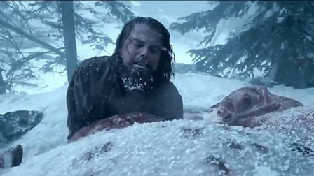小李子奥斯卡梦想的获奖作品, 冰天雪地藏在动物尸体内御寒