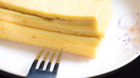 法式海绵蛋糕, 食材简单口感超棒半小时做好, 下班做给自己犒劳一下