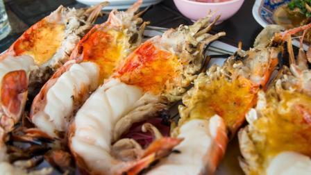 至尊美味! 巨型龙虾吃爽老外