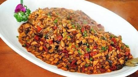 """改良版的传统鲁菜""""干烧大黄鱼"""", 结合配菜, 香味浓郁奇特, 口感极其美味!"""