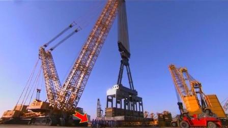 中国制造的世界最大起重机, 能提起4500吨高达30层楼, 太震撼了