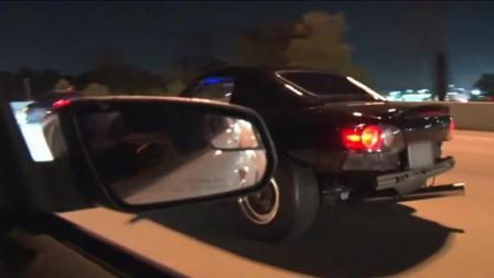 福特野马汽车高速公路挑战本田汽车, 最后来的这辆车让所有人低调