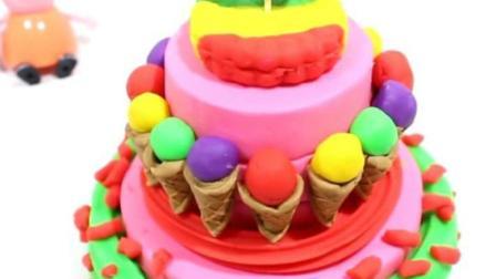制作汉堡和蛋糕玩具视频  制作冰淇淋的玩具模具视频15