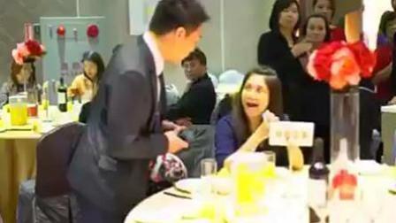 女子疑白吃婚宴被抓包 恼羞咆哮后拿饼闪人