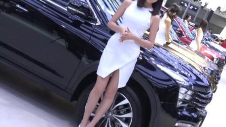 2017广州车展 广汽集团东道主 大阵势 超高颜车模排成排