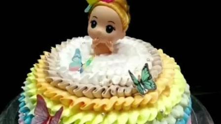 看糕点师制作芭比娃娃蛋糕, 好厉害看的好爽啊!