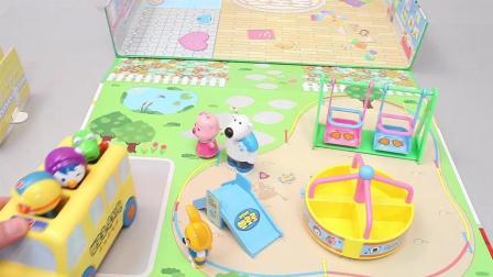 小企鹅波鲁鲁邀请小朋友们去公园玩度过周末玩具故事