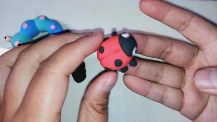 小瓢虫黏土 小动物 黏土教程 手工课