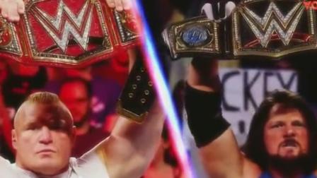 wwe aj 坏叔叔出品 WWE2017强者生存布洛克莱斯纳VSAJ完整版