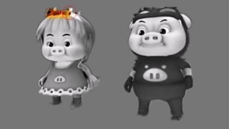 彩色画画猪猪侠, 趣味图片, 儿童识颜色