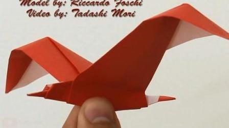 幼儿园手工折纸大全之海鸥折法教程, 为孩子收藏!