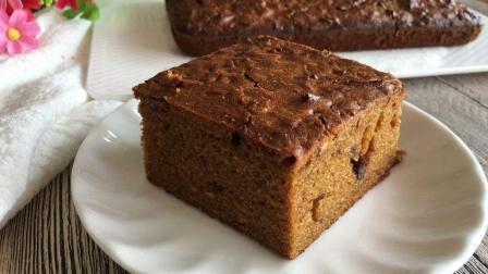 """家常版的""""红枣蛋糕"""", 做起来非常简单, 口味老棒了!"""