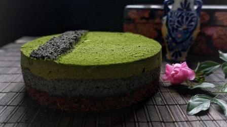 蛋糕又做出了新境界! 抹茶&黑芝麻&芝士, 清香加浓郁的味道, 太爱了!