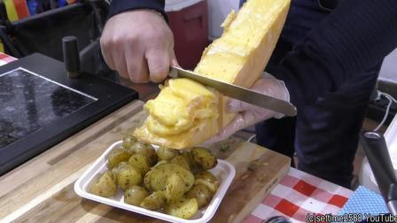 看看外国人怎么吃奶酪, 加热后一份真不少, 吃的不腻吗