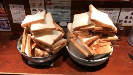 日本小伙挑战吃50块早餐面包, 我得吃一周才能吃完它