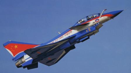 实拍: 近观迪拜航展上中国空军, 歼10战机演示团队