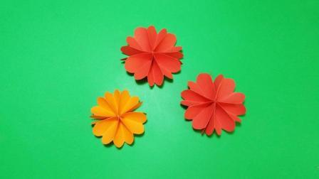 幼儿园手工花, 一分钟学会, 幼儿教师用来装饰教室