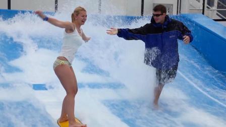 豪华游轮上玩冲浪, 航行可以如此有乐趣!