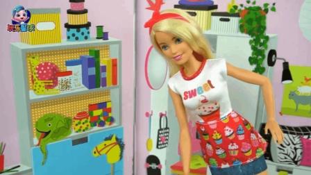 芭比的故事 芭比甜品屋周年庆 手绘宣传海报 亲自烘焙杯子蛋糕送朋友