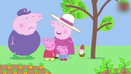 动画: 猪奶奶给佩奇买了一车的娃娃, 佩奇好高兴, 猪爷爷却不想放在菜园