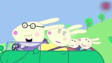 动画: 佩奇听到兔妈妈肚子有声音, 竟然生出了双胞胎兔宝宝