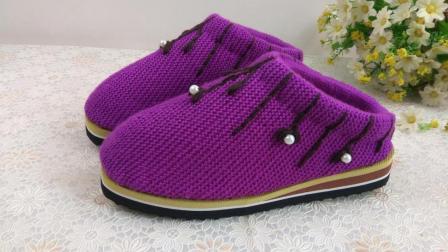 【手工织品】刺绣预告款毛线鞋编织视频教程细线编织花样