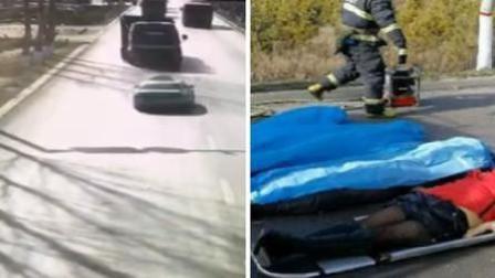 出租车逆行遭半挂车怼上树 致5死1伤