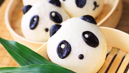 花样卡通馒头做法大全, 好萌好可爱的熊猫, 简单好做, 每天更新哦
