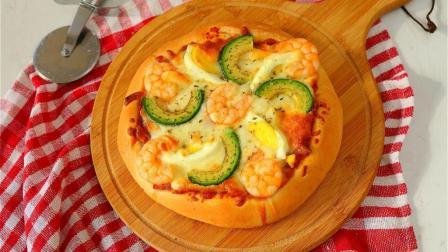 超详细讲解, 教你在家做必胜客超级至尊披萨和牛油果大虾披萨!