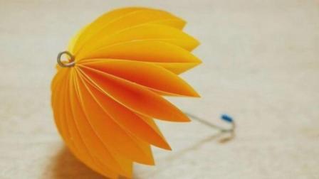 简单手工儿童雨伞 小朋友都能看懂 创意生活手工DIY