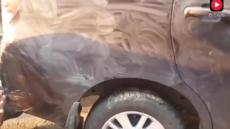 十万元买的二手丰田车, 开到洗车店洗干净发觉不对, 为啥?