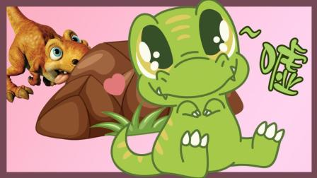 恐龙破坏王: 饥饿的霸王龙偷吃小猪佩奇的糖果又吞了小恐龙!
