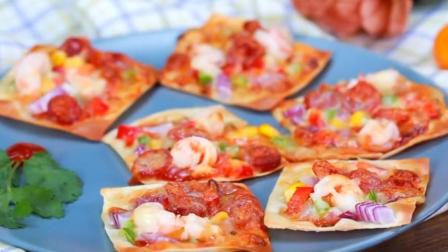 迷你披萨, 太可爱了, 味道也很棒, 家里小孩非常喜欢吃, 一口一个