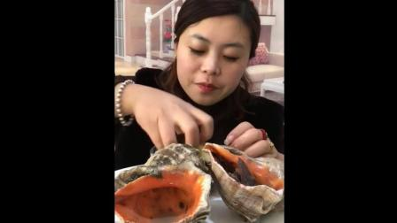 大海螺美食小吃, 比拳头还大的超大海螺, 这个味道十分香