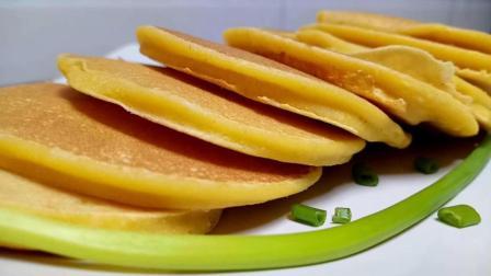 玉米饼最好吃的做法, 不用一滴油、一滴水, 家里有孩子的可以看看