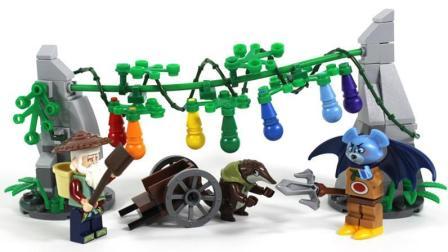 葫芦兄弟积木 爷爷落入敌网 蝙蝠精破坏葫芦藤 葫芦娃公仔玩具 鳕鱼乐园