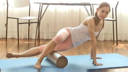 运动后的自我放松按摩方法, 大腿外侧肌肉
