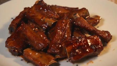 懒人版糖醋排骨, 做法超简单, 排骨红亮油润, 口味酸甜, 家常美食