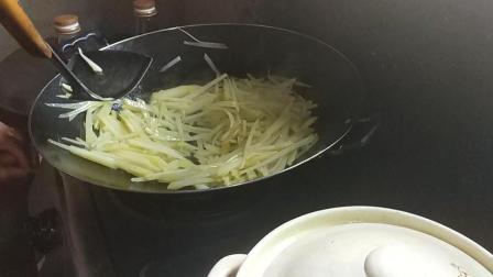 素炒土豆丝家常做法大全 赣州市南康区龙回镇特产美食视频