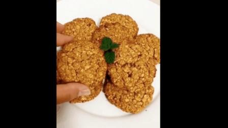 自制燕麦饼干零食, 减肥好帮手, 做来解解馋吧