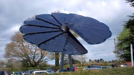 新型太阳能系统: 外观是朵花, 可以跟随太阳转!