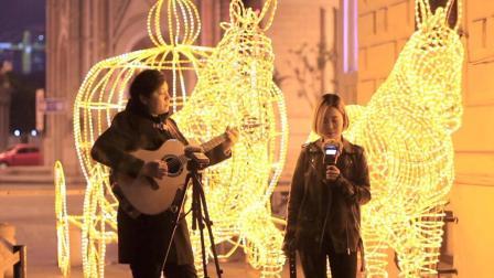 【郝浩涵梦工厂】吉他弹唱 一首简单的歌(搭档: 天慧)
