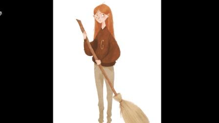 超赞的国外插画大师ps板绘过程教程 #4 - Ginny Weasley
