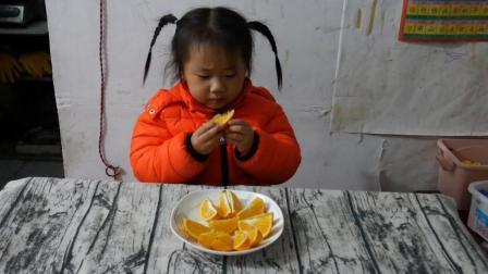 四岁萌宝试吃中国十大名橙, 永兴冰糖橙, 好吃到差点把皮也吃进肚子