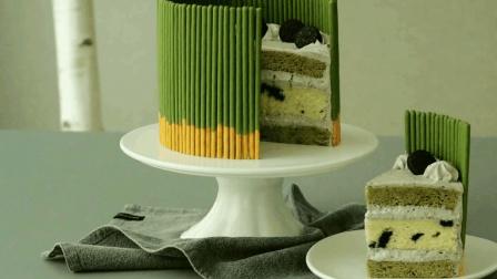 diy奥利奥抹茶蛋糕, 集颜值和口味的甜品, 6分钟学会